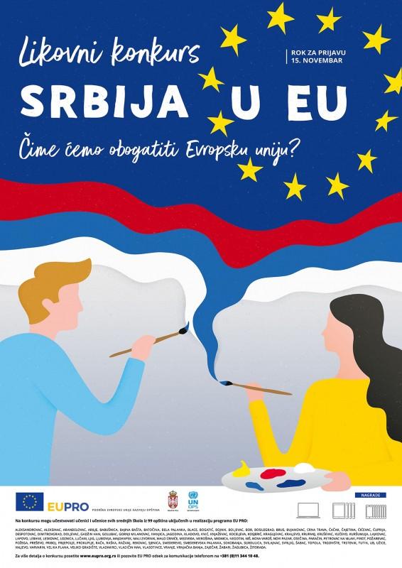 """Otvoren likovni konkurs programa EU PRO za 2019. godinu """"Srbija u EU - Čime ćemo obogatiti Evropsku uniju?"""""""
